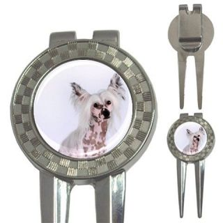 CHINESE CRESTED HAIRLESS DOG PUPPY PUPPIES GOLF DIVOT REPAIR TOOL BALL