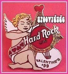 1999 Toronto SKYDOME Hard Rock Cafe Pin VALENTINES DAY Cherub