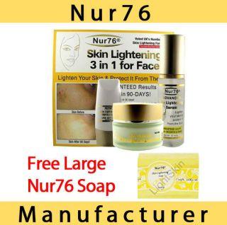 Nur76 ADVANCED 3in1 Skin Lightening + FREE Nur76 Soap