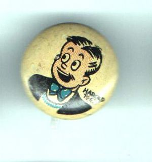 1946 PEP old pin KELLOGGs Cereal HAROLD TEEN Button