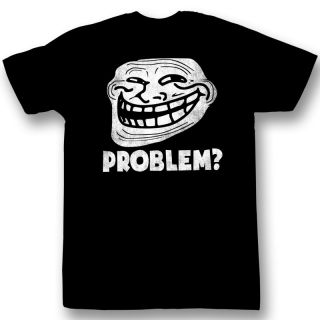 Troll Face You Mad? Problem? Meme Licensed Tee Shirt Sizes S 2XL