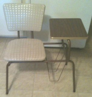 Vintage Retro Gossip Bench / Telephone Table Stand / Magazine Rack