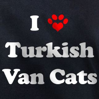LOVE TURKISH VAN CATS T SHIRT vans cat kitten gift