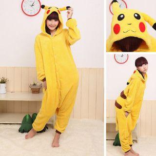 Japan Anime Pokemon Pikachu Costume Fancy Dress Cosplay Pajamas