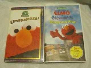 Sesame Street Elmo Movie & Sing and Play videos~Elmopalooza~VHS~LBDDVG