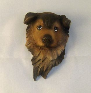 Cute German Shepherd Puppy Head 3 D Sculpted Magnet
