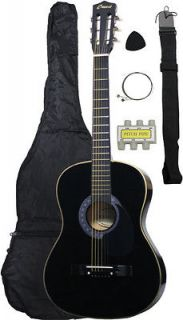 Newly listed NEW Beginners BLACK Acoustic Guitar+GIGBAG+STRAP+TUNER