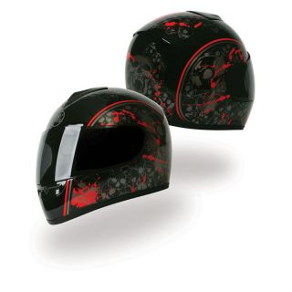 13 Rush Splatter Graphic Black DOT Full Face Motorcycle Helmet XS   XL