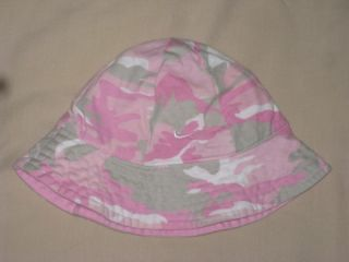 Pink or Reversible Pink Gray White Camouflage Bucket Hat Sz 0 3 Months