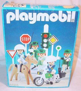 Playmobil System GERMAN MOTORCYCLE & RIOT POLICE 5 Klicky Set 3494 MIB
