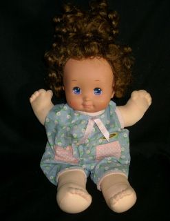 NURSERY BABY DOLL MATTEL 1989 STUFFED ANIMAL PLUSH TOY HEART PURPL