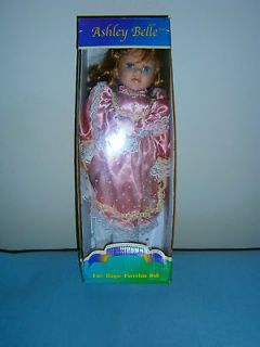 Ashley Belle Porcelain Doll Collectab​le/Hand Crafted