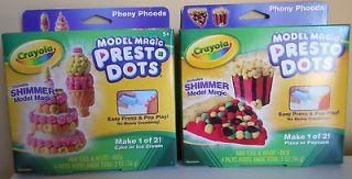 Crayola Model Magic Presto Dots Shimmer Pizza Popcorn Ice Cream cone