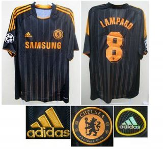 ADIDAS 2010/11 LAMPARD BLACK CHAMPIONS LEAGUE JERSEY SHIRT XL TOP NEW