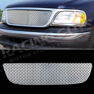 FORD PICKUP TRUCK CHROME FRONT UPPER GRILL GRILLE INSERT FLAME PATTERN
