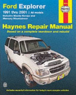 Haynes Ford Explorer 1991 Thru 2001 Mazda Navajo and Mercury