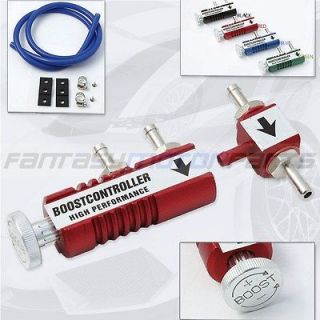 UNIVERSAL RED ADJUSTABLE MANUAL TURBO BOOST CONTROLLER KIT 1 30 PSI IN