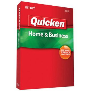 NEW Intuit Quicken Home & Business 2010 for PC Windows XP Vista 7