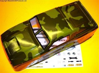 BSP BTT 5 1/10 Scale RC Nitro Rock Crawler Body Shell Cover Camoflauge