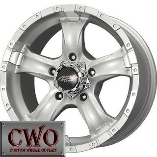 16 Silver MB Chaos 5 Wheels Rims 5x127 5 Lug Chevy GMC C1500 Jeep