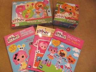 Lalaloopsy items All New puzzle, memory match game, 3 coloring books