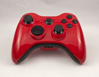 GLOSS RED/BLACK XBOX 360 MODDED CONTROLLER RAPID FIRE FOR MODERN