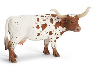 NEW TEXAS LONGHORN COW Farm Life SCHLEICH 13685
