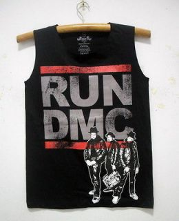 NEW RUN DMC SINGLET TANK TOP SHIRT HIP HOP RAP ROCK BAND TOUR 36 M