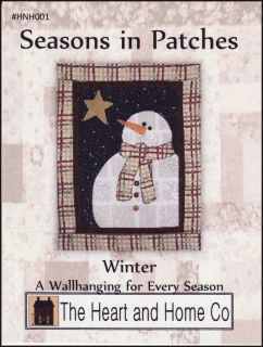 Seasons In Patches Winter Wall Quilt Pattern Heart&Home