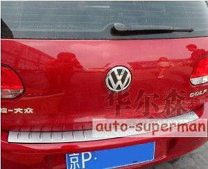 Rear Bumper Protector/scuf​f plate For VW GOLF 6 MK6 2009 2010 2011