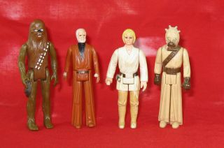 vintage star wars action figures lot in TV, Movie & Video Games