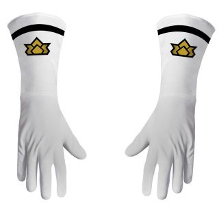 white POWER RANGER SAMURAI GLOVES costume halloween accessories kids
