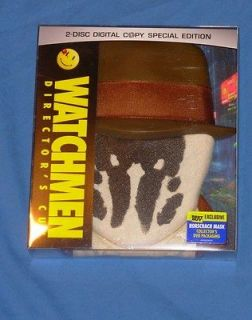 Watchmen Directors Cut Best Buy Exclusive Rorschach Case Mask DVD New