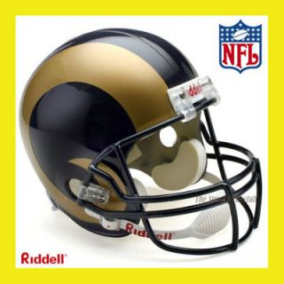 ST. LOUIS RAMS NFL DELUXE REPLICA FULL SIZE FOOTBALL HELMET by RIDDELL