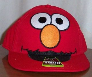 Sesame Street ELMO Big Face Red YOUTH BASEBALL CAP HAT Adjustable