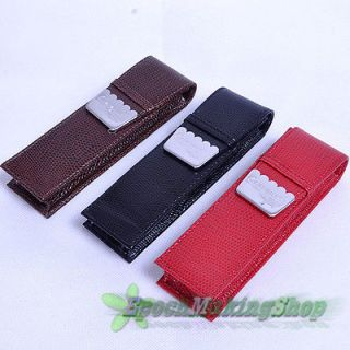 Newly listed CROCODILE 2 pens red high grade Fountain Pen Leather Case