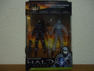 Halo Reach Series 4 2 Pack Noble Six & Hologram XBOX PS3 Action Figure