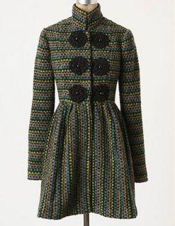 Anthropologie Cheongsam Dress Coat Size 8, Plenty By Tracy Reese