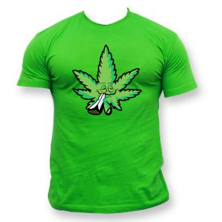 shirt Reggae Jamaica Smoking Spliff Cannabis Marijuana Rasta Ganja