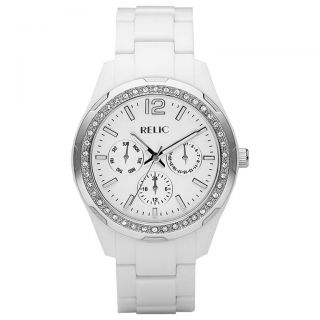 Relic Starla White Resin Womens Watch ZR15551