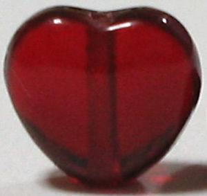 SMALL 60 Red HEART Glass Beads Rosary Making Parts 6mm