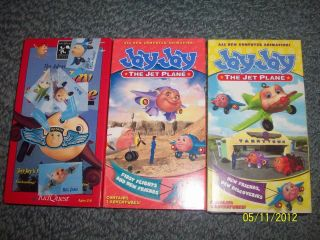 LOT 3 JAY JAY THE JET PLANE VHS TAPES NEW FRIENDS, NEW DISCOVERIES