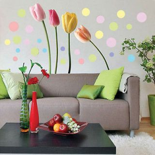 New Tulip Style DIY Stickers Home Decal Mural Art Wall PVC wallpaper