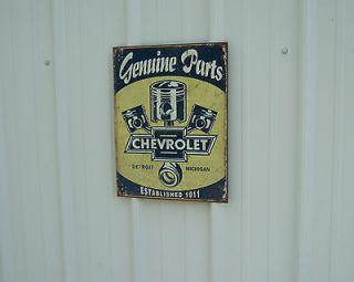 PISTON LOGO CHEVROLET CAR TRUCK NICE TIN REPO PICKUP (Fits Chevrolet