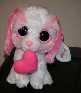 Ty COOKIE the 6 Valentine Dog 2011 Beanie Baby Boos Boos Babies
