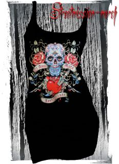 SUGAR SKULL,DAY OF THE DEAD,ROCKABILLY,TATTOO,GOTH,TANK TOP,DRESS,VEST