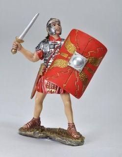 ROMAN SOLDIER CHARGING W/ SWORD & SHIELD ARMOR FIGURINE/STATUE/FIGURE