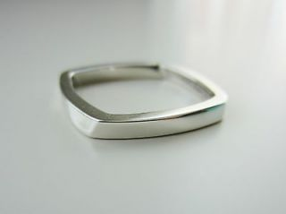Tiffany & Co. Frank Gehry Narrow Torque Ring in Sterling Silver Size 8