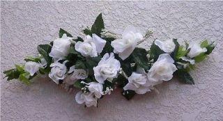 ROSE SWAG OFF WHITE Wedding Table Centerpiece Silk Flowers Arch Gazebo