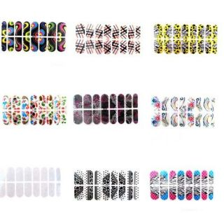Elegant Shinny Charming Sticking Nail Polish Sticker Wrap Nail Art